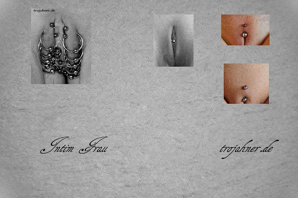 Frau intimbereich piercing im Intimpiercings