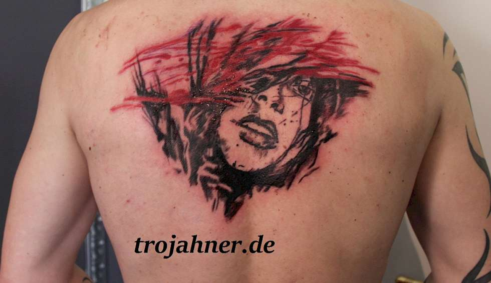Bild watercolor watercolour abstrakt gesicht visage Tattoo