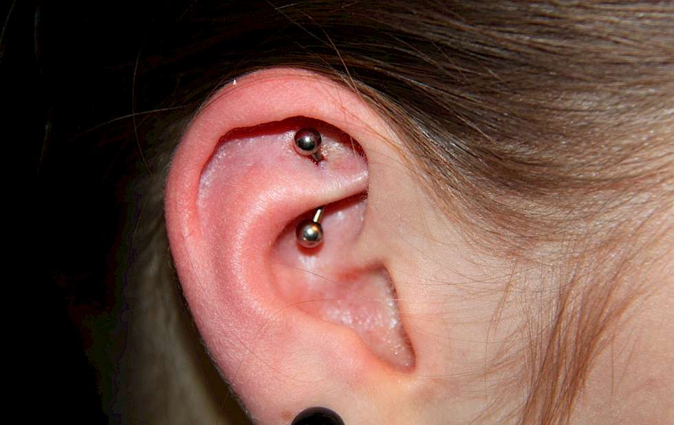 Bild Rook Ohrpiercing Piercing