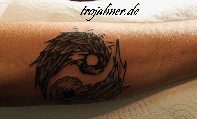 Flügel Engelsflügel Tattoo Trojahner Körperkunst Dresden